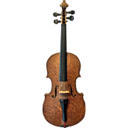 Doll size wooden violin