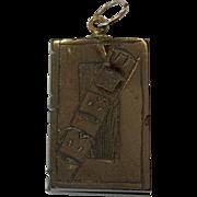 Whitby Jet book pendant - Bible