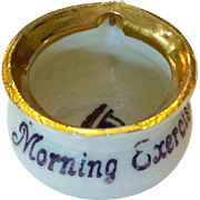 "Tiny German chamber pot, ""Morning Exercise"""