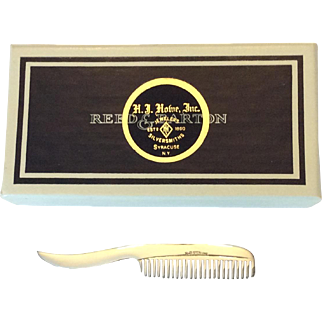 Vintage Reed & Barton sterling mustache comb