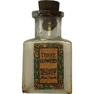 Miniature bottle of Three Flowers by Richard Hudnut, New York