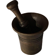 Miniature brass mortar and pestle