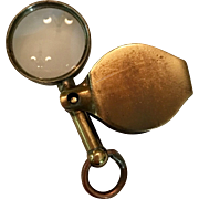 Antique miniature magnifying glass for French fashion doll