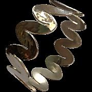 Ed Levin vintage midcentury modernist wave bracelet