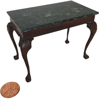 Miniature Chippendale serving table signed by Charles Krug