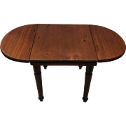 Doll size antique drop leaf table