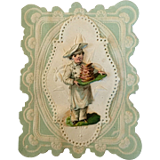 Antique doll size valentine card #1