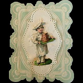 Antique doll size valentine card #1