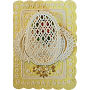 Antique doll size valentine card #2
