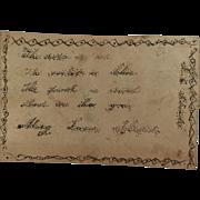 Tiny antique folk art valentine poem