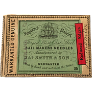 Original packaging for sail making needles