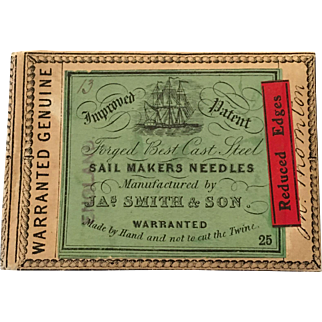 Antique packaging for sail making needles