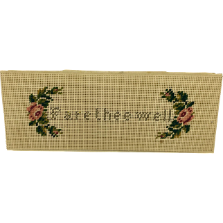 "Perforated paper embroidered book mark ""Fare thee well"""