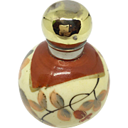 Miniature porcelain perfume or scent bottle