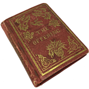 "Miniature book ""The Offering"" (1852)"
