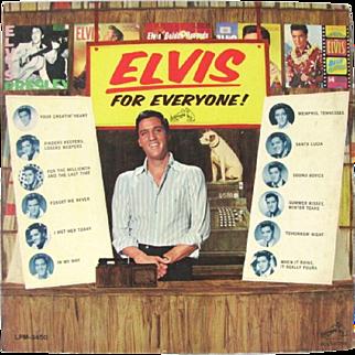 Elvis For Everyone Presley Record Album Rca 65 First Edition Us Mono LP LPM-3450