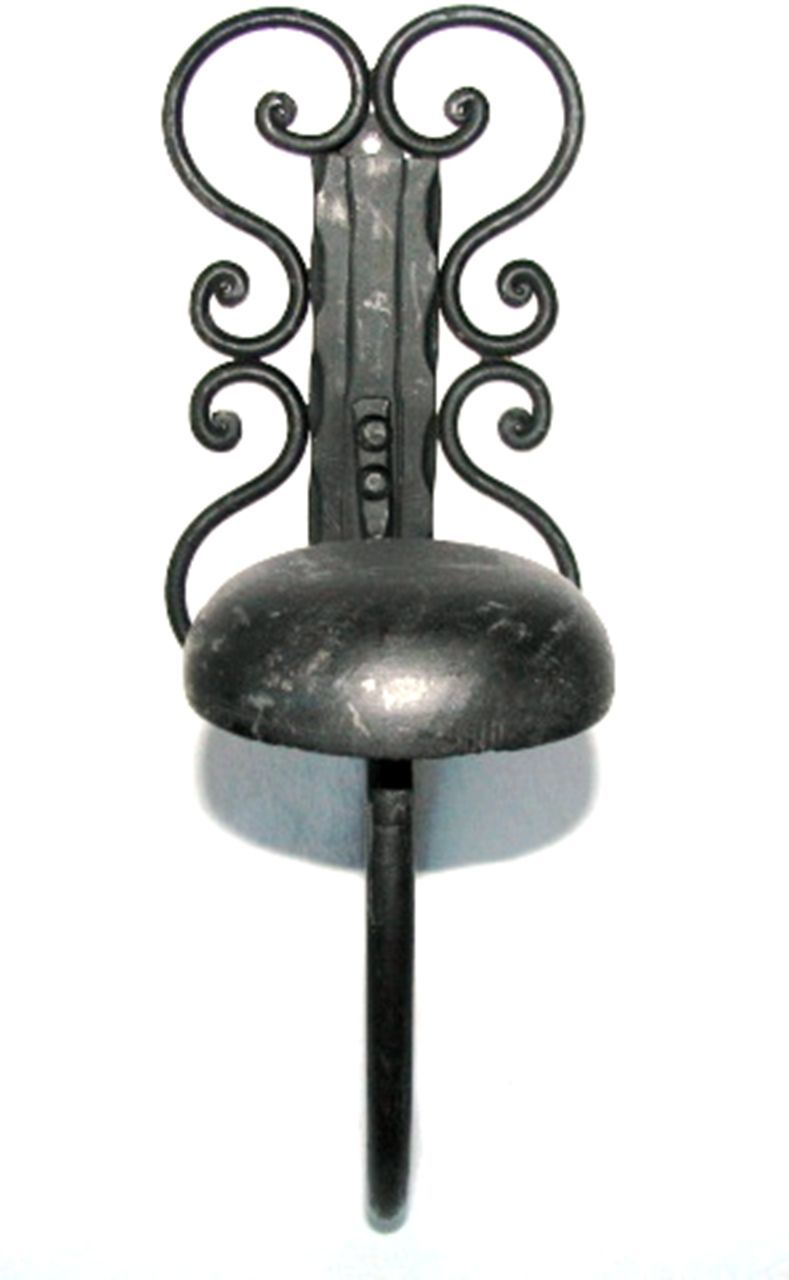 Decorative Arched Wrought Iron Wall Mount Hat Coat Rack