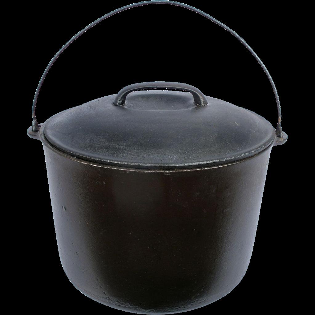 Kettle Cast Iron ~ Vintage cast iron wagner ware gal kettle bean cowboy