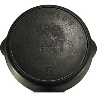 """Griswold Rare Griswold's """"Erie"""" Logo 699 B Cast Iron Camp Fire Heat Ring Skillet Pan Fryer"""