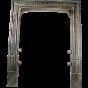 Antique Victorian Cast Iron Bronze Sparkle 18 40 Fireplace Door Frame Surround
