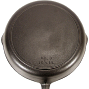 "Vintage Cast Iron 10 3/8"" Cowboy Camp Fire Century Series BSR Skillet Pan Fryer"