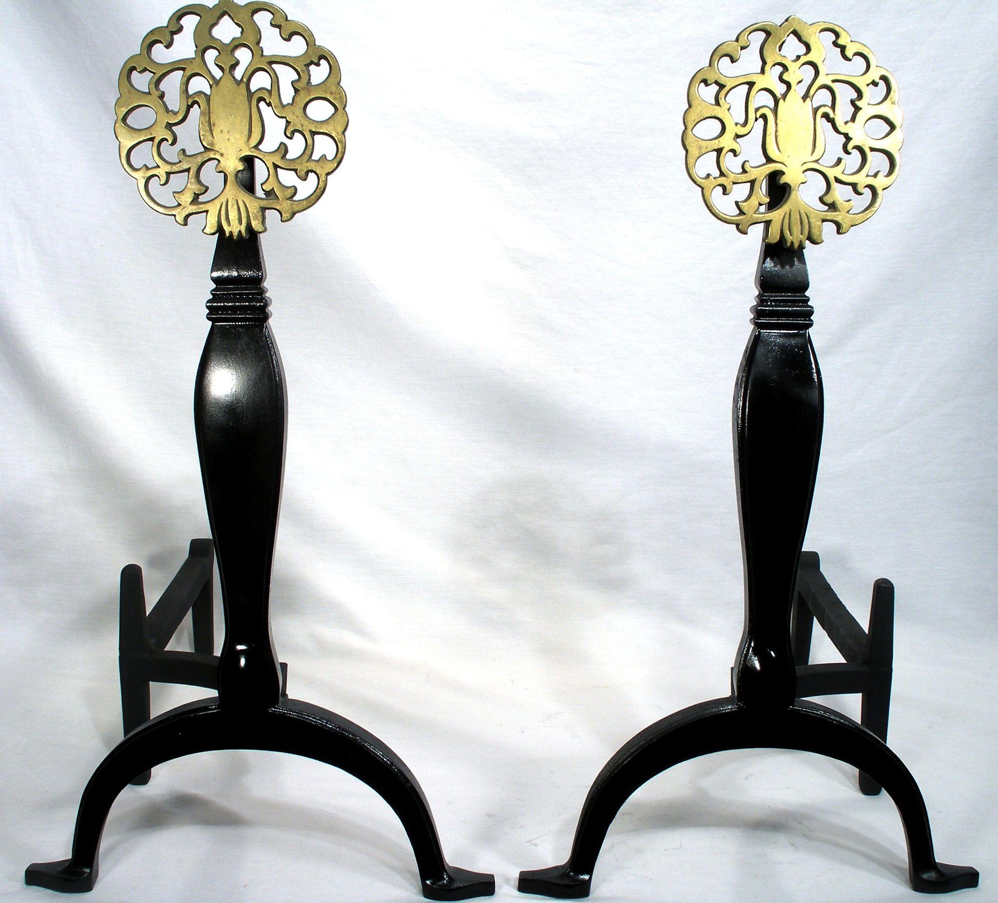 vintage cast iron brass medallion virginia metal crafters deco