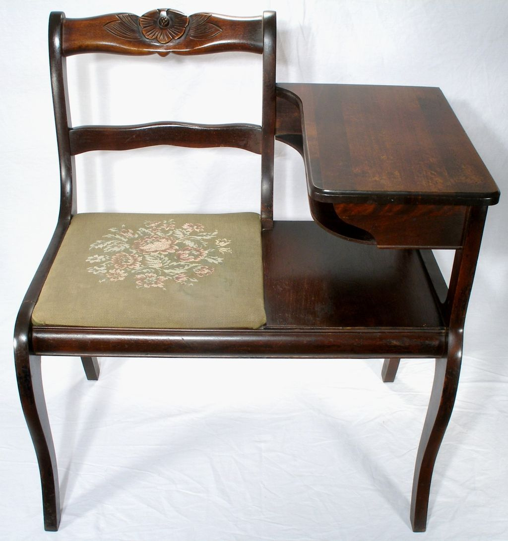 Old Fashioned Telephone Table Chair