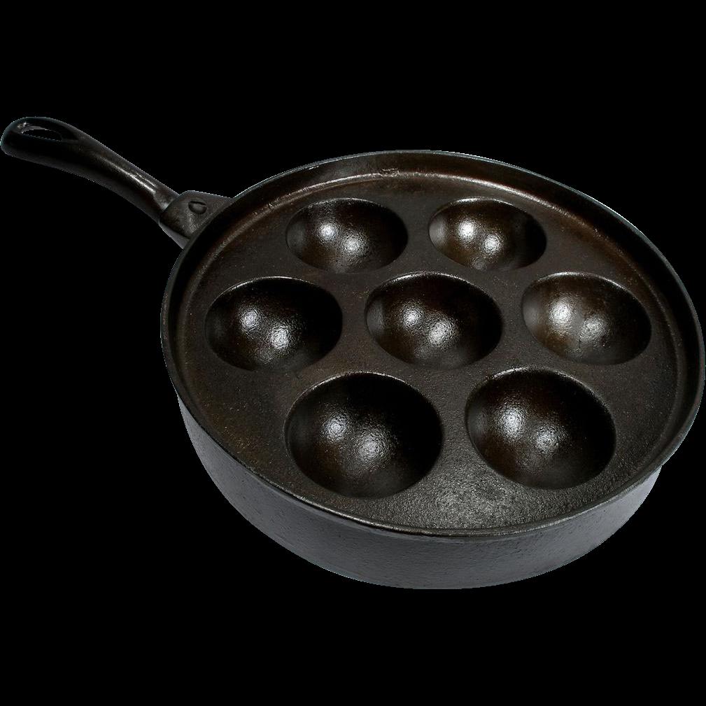 Vintage Cast Iron Aeble Ebelskiver Favorite Piqua Pastry