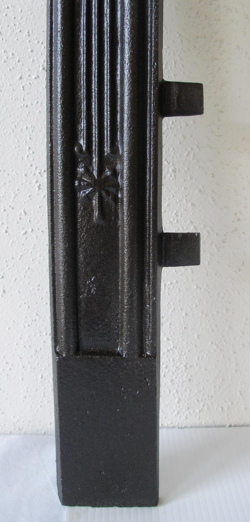 antique victorian cast iron sparkle fire place fireplace door