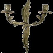 Antique Wall Sconce Brass Candlestick Candelabra Candle Stick Holder