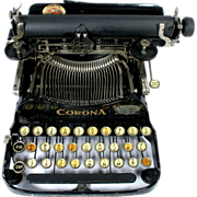 Early 1900's Corona 3 Portable Folding Typewriter Personal Writing Machine with Original Carrying Case