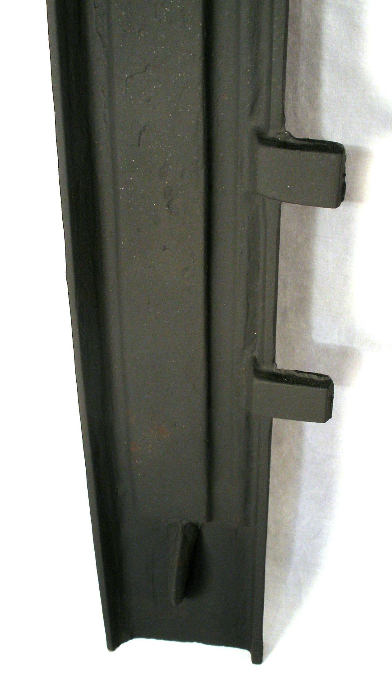 antique victorian cast iron ribbed sparkle black fireplace door
