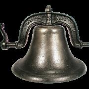 "Antique VM Virginia Metalcrafters Home School Farm Church Large Cast Iron Bell 19"""