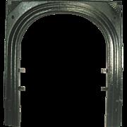 Vintage Art Deco Fan Starburst Cast Iron Fire Place Door Frame Surround Mantle
