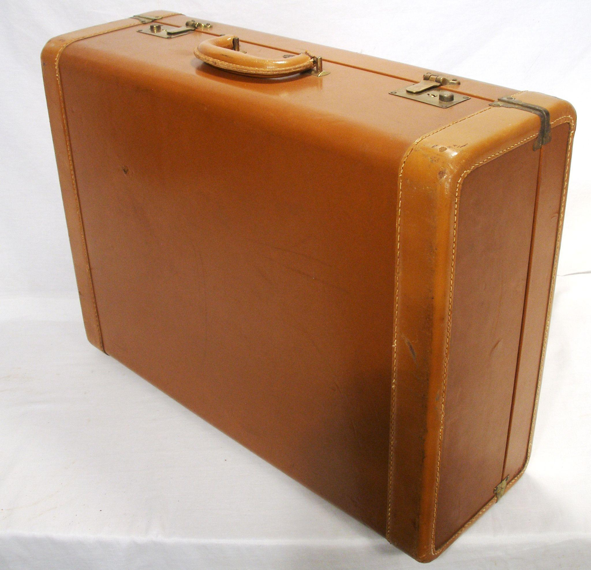 Vintage Rauch bach Leather & Brass Travel Luggage Suitcase from ...
