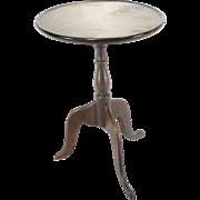 Antique Mahogany Shaker Period English Tea Wine Lamp Side Table