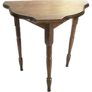 Antique Victorian Oak Wood Arts & Crafts Wall Entry Foyer Hall Table