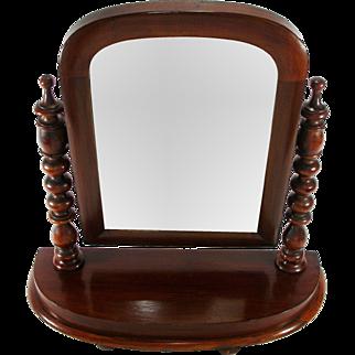 Antique Mahogany Arts Crafts Adjustable Mahogany Frame Shaving Cabinet Top Mirror