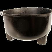 Vintage Steel Kettle Cauldron Cowboy Camp Fire Pour Spout Old Hanging Gypsy Pot