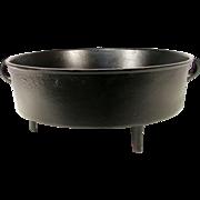 Antique Cast Iron Reenactment Black Spider Pig Ear Footed Deep Fryer Pan Pot