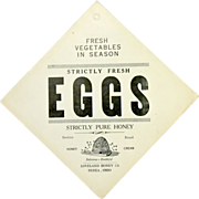 Strictly Fresh Eggs Advertising Sign