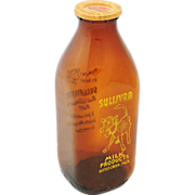Sullivan's Amber Glass Milk Bottle