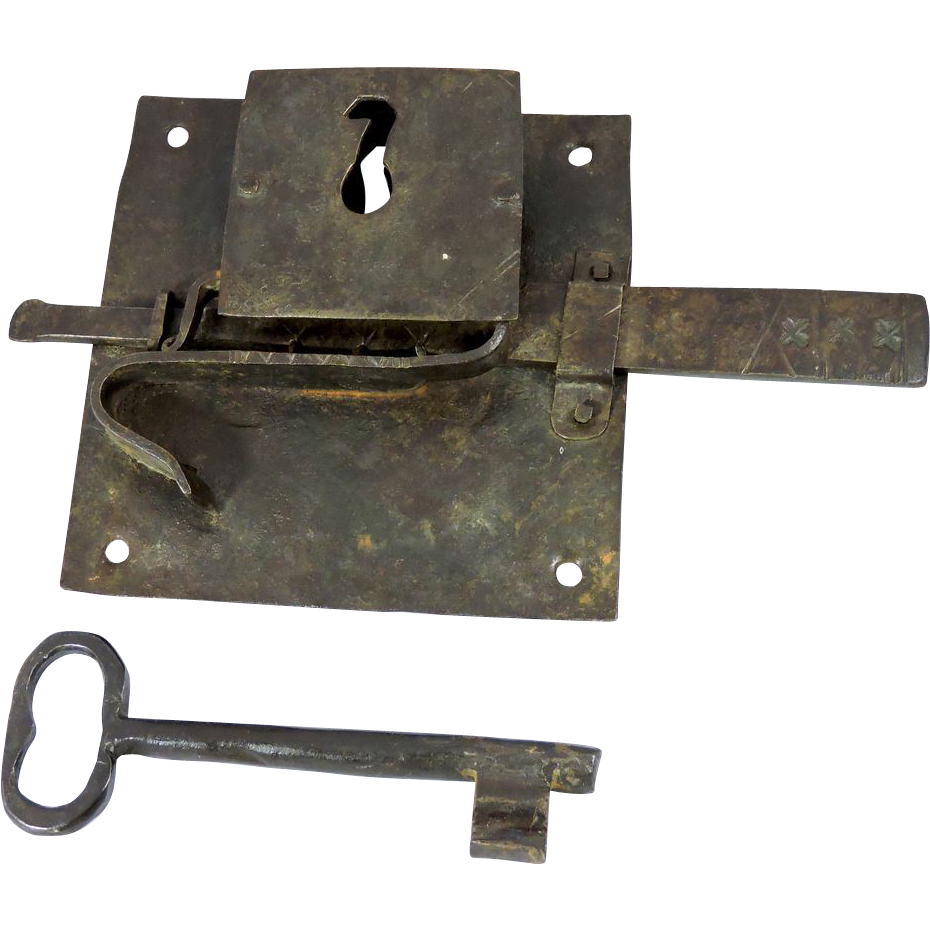 1700s iron door lock plate and key from thecuriousamerican for 18th key of the door