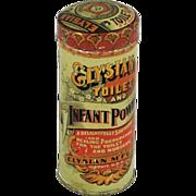Elysian Toilet and Infant Powder Tin