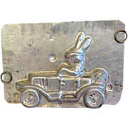 Eppelsheimer Bunny in Car Tin Chocolate Mold.