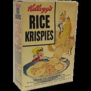 Vintage 1950's Unopened Box of Kellogg's Rice Krispies.