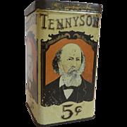 Mazer-Cressman Tennyson Cigar Store Tin
