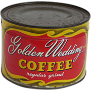 Vintage Unopened Can of  Golden Wedding Coffee