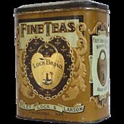 Lock Brand Fine Teas Embossed Litho Tin