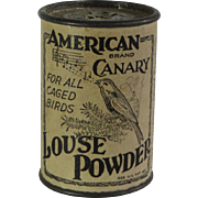 American Canary Louse Powder Container
